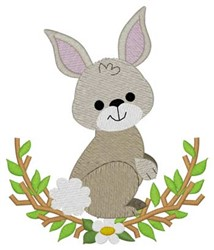 Woodland Bunny embroidery design