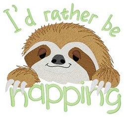 Rather Be Napping embroidery design