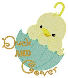 Duck & Cover embroidery design