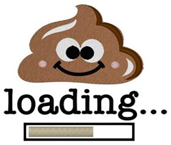 Poop Loading... embroidery design