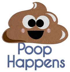 Poop Happens embroidery design