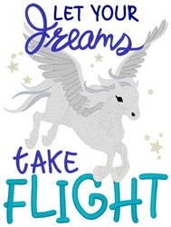 Dreams Take Flight embroidery design