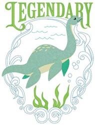 Legendary Loch Ness Nessie embroidery design