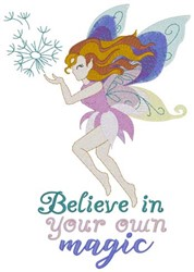 Believe In Your Magic embroidery design