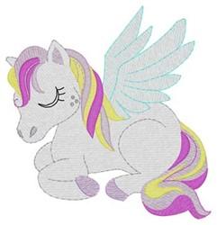 Sleeping Pegasus embroidery design