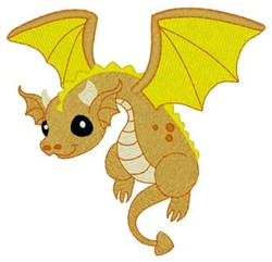 Baby Flying Dragon embroidery design