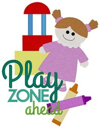 Play Zone embroidery design