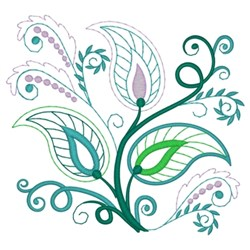 Paisley Leaves embroidery design