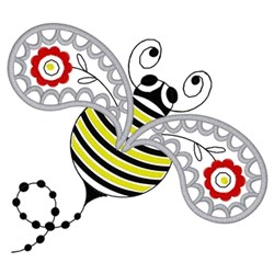 Paisley Bee embroidery design