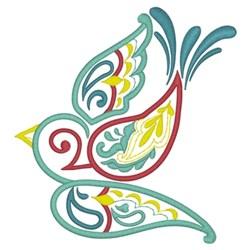Paisley Bird embroidery design