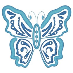 Paisley Butterfly embroidery design