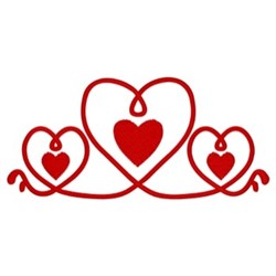 Hearts Border embroidery design
