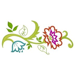 Floral Vine Border embroidery design