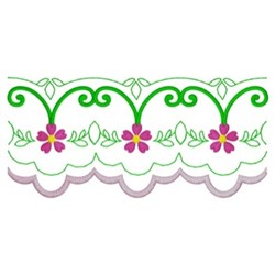 Scalloped Border embroidery design