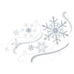 Snowflakes Swirling embroidery design