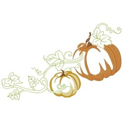 Pumpkins & Leaves embroidery design