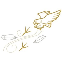 Eagle & Feathers embroidery design
