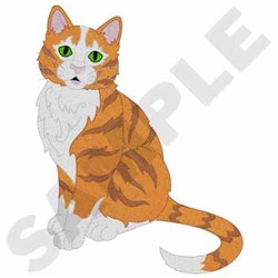 Orange And White Tabby embroidery design