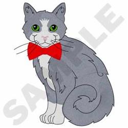 Tuxedo Cat embroidery design