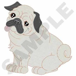 Pug embroidery design