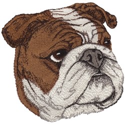 English Bulldog embroidery design