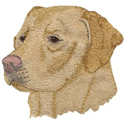 Yellow Lab embroidery design