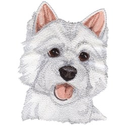 West Highland Terrier embroidery design