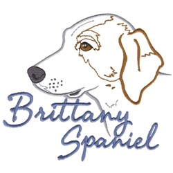 Brittany Spaniel embroidery design