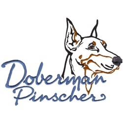 Doberman Pinscher embroidery design
