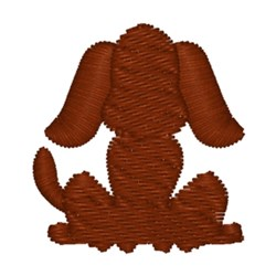 Dog Silhouette embroidery design