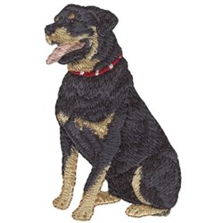 Small Rottweiler embroidery design