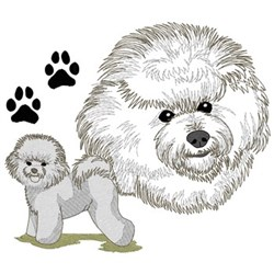 Bichon Frise embroidery design