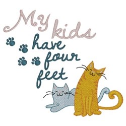 My Kids are Cats embroidery design