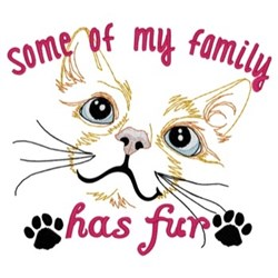 Fur Family embroidery design