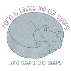 Cat Nap embroidery design