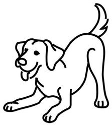 Labrador Retriever Outline embroidery design