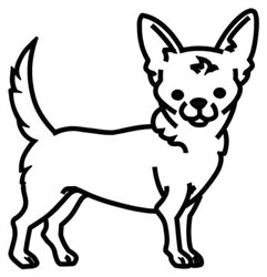 Chihuahua Outline embroidery design