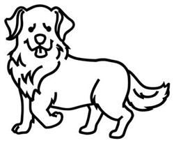 Golden Retriever Outline embroidery design