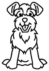 Schnauzer Outline embroidery design