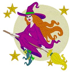 Pretty Witch embroidery design