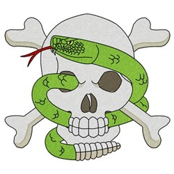 Skull & Snake embroidery design