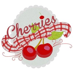 Cherries embroidery design
