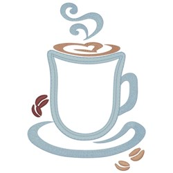 Coffee Applique embroidery design