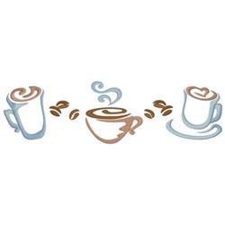 Coffee Border embroidery design