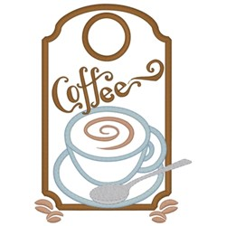 Coffee Applique embroidery design