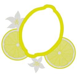 Lemon Scrubbie embroidery design