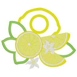 Lemon Towel Topper embroidery design