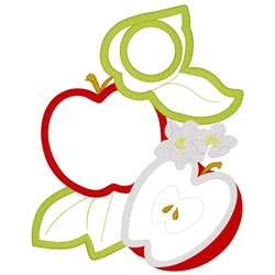 Apples Applique embroidery design