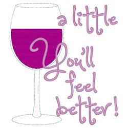 Wine A Little... embroidery design