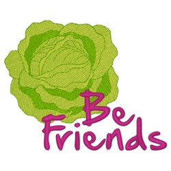 Lettuce Be Friends embroidery design